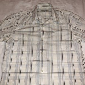 100% Cotton Button Down Short Sleeve Shirt from BR
